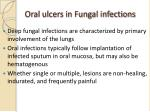 oral ulcers in fungal infections