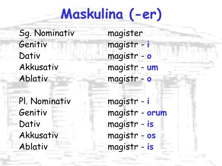 Maskulina (-er)