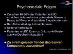 psychosoziale folgen