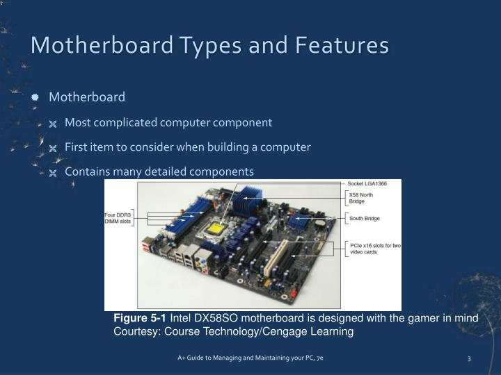 Motherboard types and features
