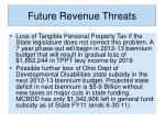 future revenue threats