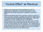 income effect as revenue