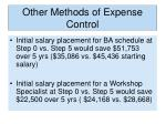 other methods of expense control1
