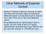 other methods of expense control3
