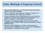 other methods of expense control5