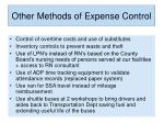 other methods of expense control6