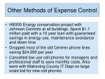 other methods of expense control7