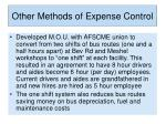 other methods of expense control8