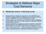 strategies to address major cost elements1