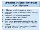 strategies to address the major cost elements1