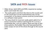 sata and pata issues