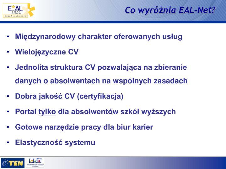 Co wyróżnia EAL-Net?