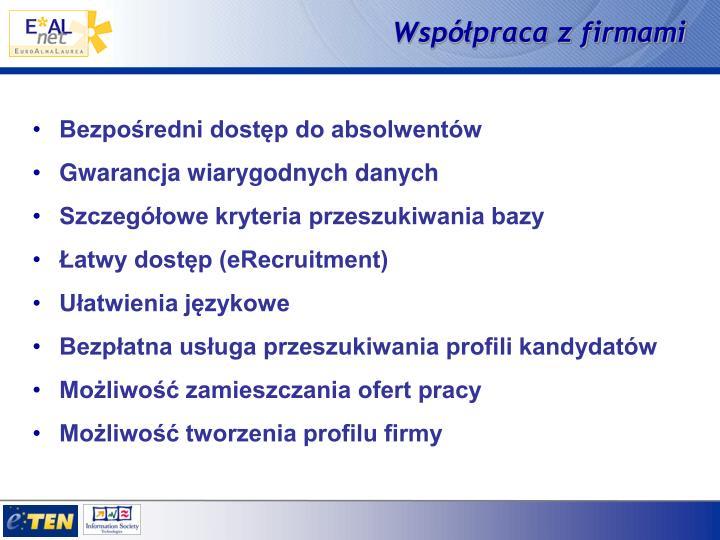 Współpraca z firmami