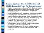 reasons graduate school of education and ce ed began the center for student success
