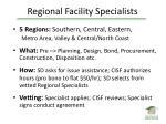 regional facility specialists