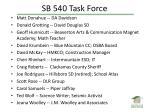 sb 540 task force