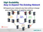 high scalability easy to expand the existing network