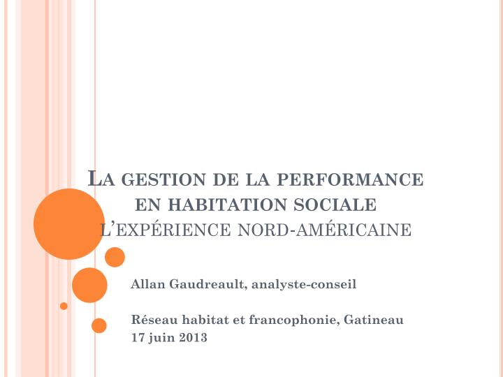 la gestion de la performance en habitation sociale l exp rience nord am ricaine n.