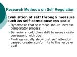 research methods on self regulation