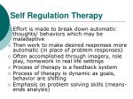 self regulation therapy