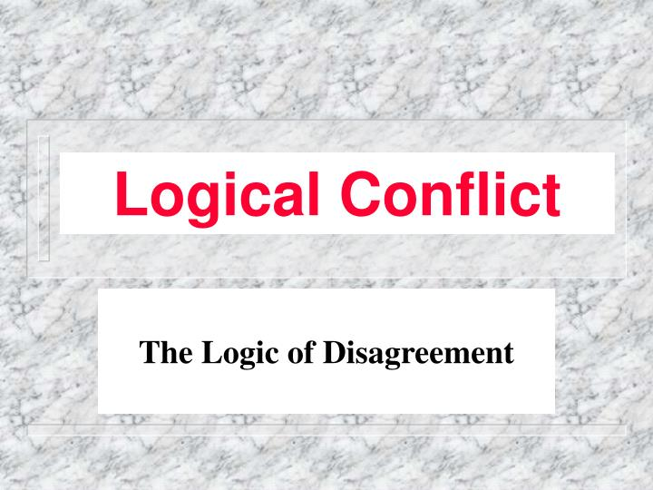 logical conflict n.