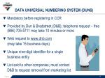 data universal numbering system duns