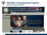 don office of small business programs http www donhq navy mil osbp