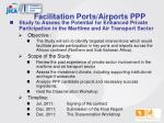 facilitation ports airports ppp