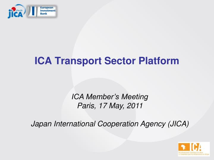 ica transport sector platform n.