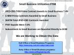 small business utilization fy08