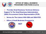office of small business programs functions cont d2