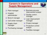 careers in operations and supply management