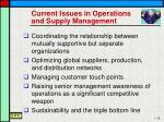 current issues in operations and supply management