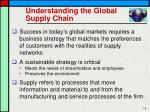 understanding the global supply chain