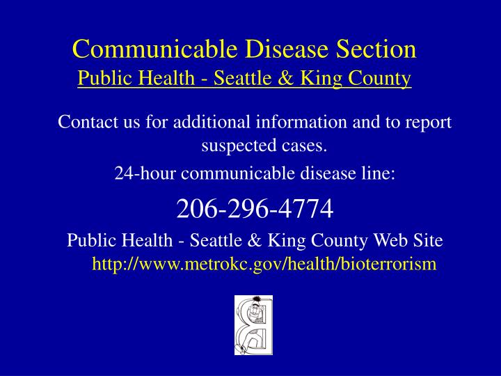 Communicable Disease Section