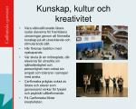kunskap kultur och kreativitet