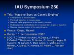 iau symposium 250