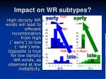 impact on wr subtypes