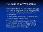 relevance of wr stars