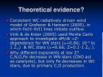 theoretical evidence
