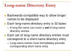 long name directory entry