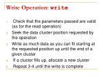 write operation write