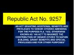 republic act no 9257