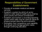 responsibilities of government e stablishments