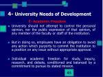 4 university needs of development11