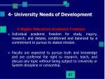 4 university needs of development13