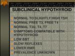 subclinical hypothyroid1