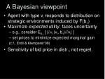 a bayesian viewpoint