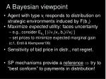 a bayesian viewpoint1