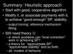 summary heuristic approach